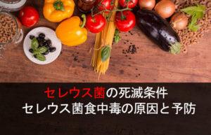 セレウス菌の死滅条件 セレウス菌食中毒の原因と予防