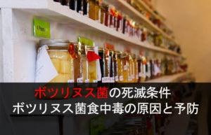 ボツリヌス菌の死滅条件 ボツリヌス菌食中毒の原因と予防
