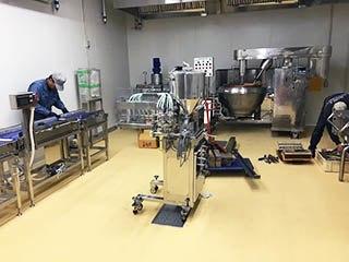 フリーズドライ味噌汁製造工場にて導入